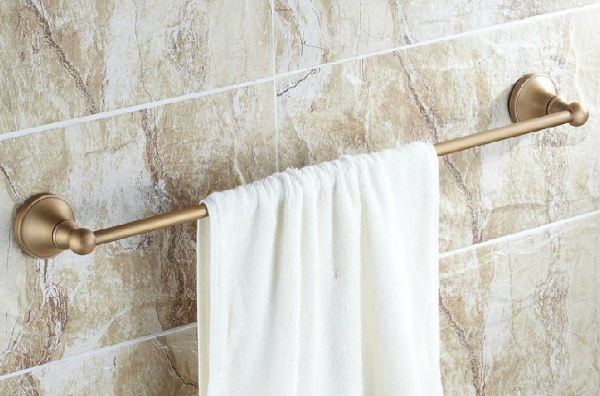 Porte-serviettes simple en laiton Antique pour salle de bain Cba147