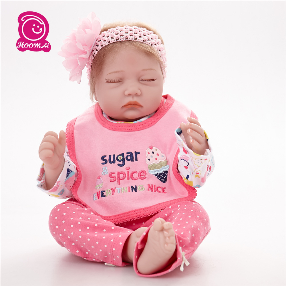 22 Inches 55Cm Mohair Sound Sleeping Soft Silicone Cotton Body Baby Lifelike Newborn Reborn Baby for Sale22 Inches 55Cm Mohair Sound Sleeping Soft Silicone Cotton Body Baby Lifelike Newborn Reborn Baby for Sale