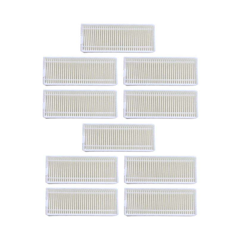 10 pcsRobot Vacuum Cleaner HEPA Filter for Seebest D750 D730 D720 midea mvcr01 Robotic Vacuum Cleaner Filters Parts Accesserios 2pcs robotic vacuum cleaner robotic parts pack hepa filter for xiaomi mi robot filters cleaner accessories