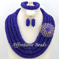Four Layers African Beaded Jewelry Fabulous Costume Jewelry Set New Handmade Wholesale BN394