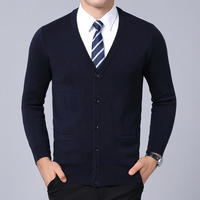 2018 New Fashion Brand Sweater Men's Cardigan V Neck Slim Fit Jumpers Knitwear Warm Winter Korean Style Casual Mens Clothes