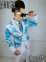 Original Designs Male Singer DJ Bigbang Rights Chi Long GD Stitching Suit Men S Fashion Slim