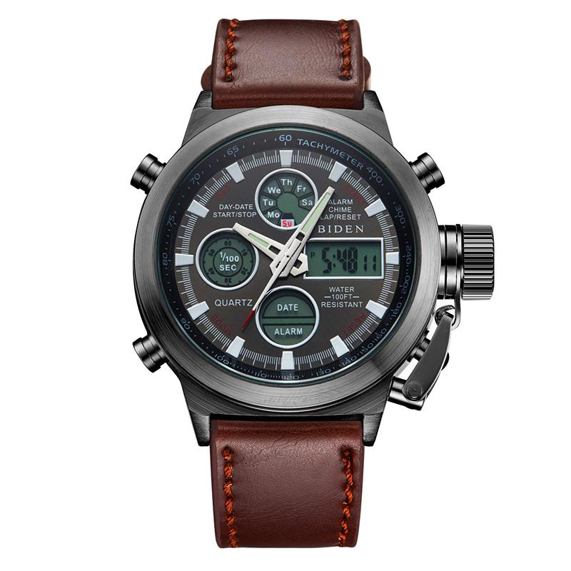 Prix pour 2016 montres hommes marque de luxe plongée LED montres sport Militaire Montre Véritable quartz montre hommes montres relogio masculino