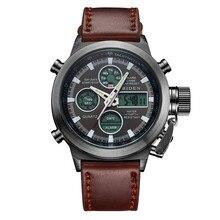 2016 hombres de los relojes de buceo marca de lujo LED relojes deporte Militar Reloj Genuino reloj de cuarzo de los hombres relojes de pulsera relogio masculino