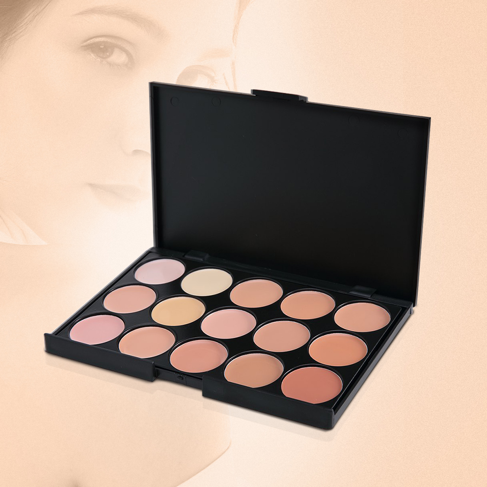 15Colors Professional Concealer Palette Women Ladies Makeup Contour Palette Comestic Facial Face Cream Care Base Palette