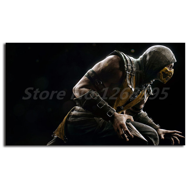 Mortal Kombat Scorpion Wallpaper Wall Art Canvas Posters Prints Painting Pictures Artwork For Office Living