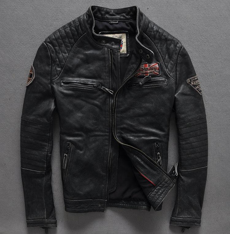 2017 г. мужские кожаные Кожаная куртка Air Force хан издание CULTIVATE One's morality отдых локомотив кожаная куртка S XXL