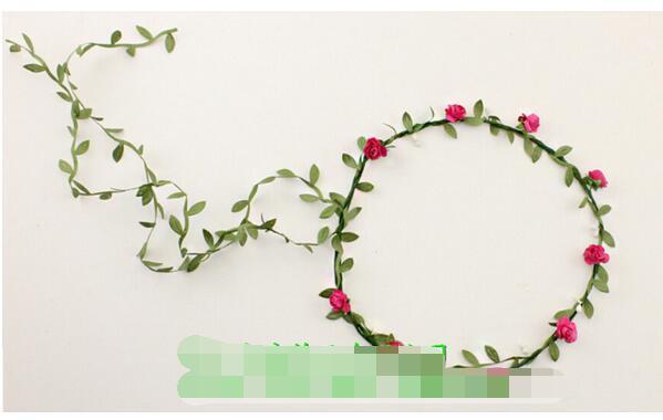 100pcs/lot free shipping Rose Flower Crown Headband Hair Garland Bride Wedding Headwear Beach Accessories