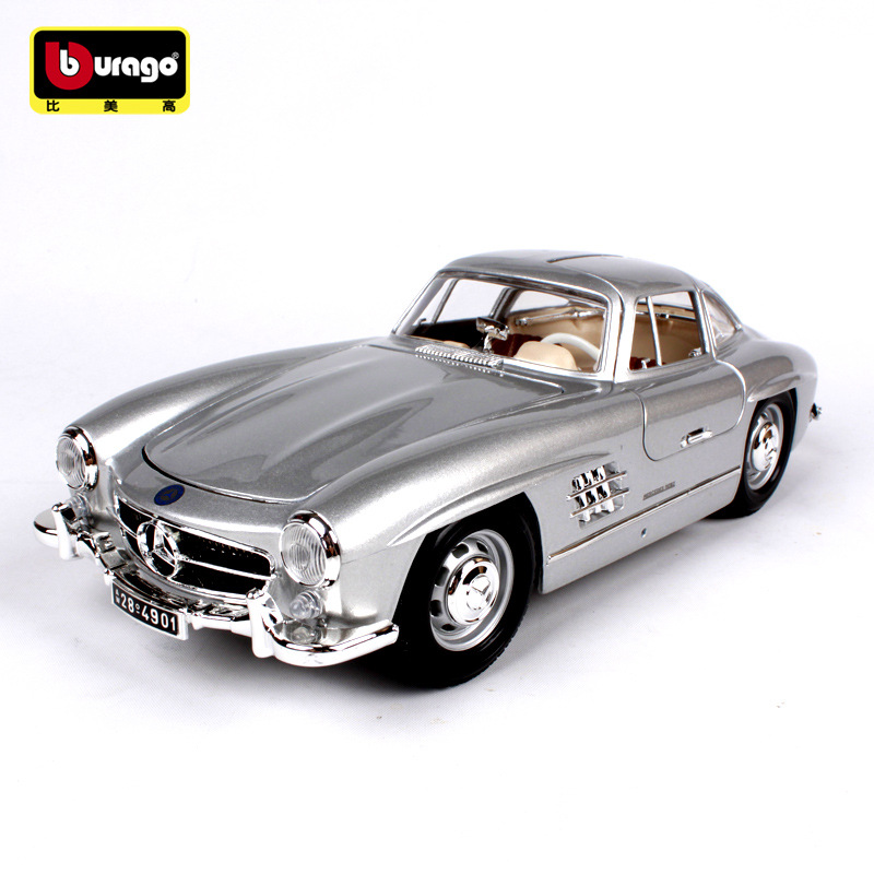Die cast Metal 1 18 Vintage Car Gull wing door Benz 1954 300SL Static Sports Car