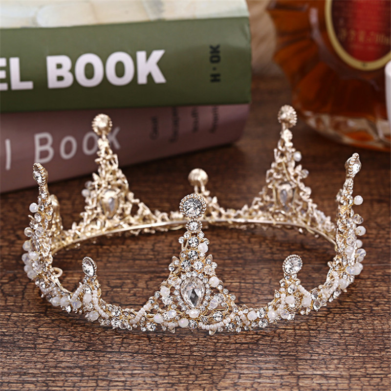 Luxury Crystal Bride Tiaras And Crowns Fashion Queen Wedding Crown Round Headpiece Wedding Hair Jewelry Accessories Wholesale цена