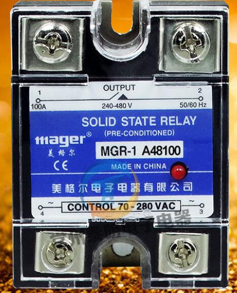 mager Genuine new original SSR Single phase solid state relay 100A 220VAC-AC AC control AC MGR-1 A48100 ssr mgr 1 d4860 meike er normally open type single phase solid state relay 60a dc ac