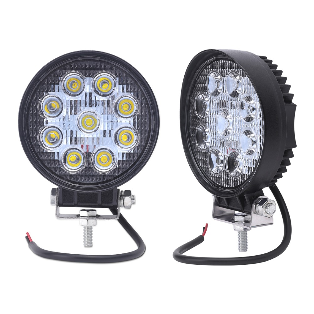2pcs 4inch ATV 27W led work light lamp12V LED tractor work lights bar spot Flood offroad off road 4X4 accessories car truck 24V