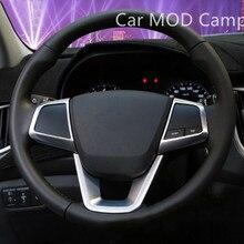 Для Hyundai creta ix25 cantus 2014 2015 2016 2017 ABS интерьер руль и пуговицы крышки украшения планки 3 шт. автомобиля стиль!