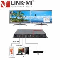 LINK MI TV02 4K2K hdmi 2.0 video wall monitors for HD TV hdmi 1:2 processor hdmi HDMI Switch 3x1 support 3840x2160@60Hz