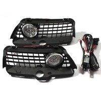 2Pcs DC 12V Set Car Fog Lights Driving Light W Grilles For VW Golf Jetta 92