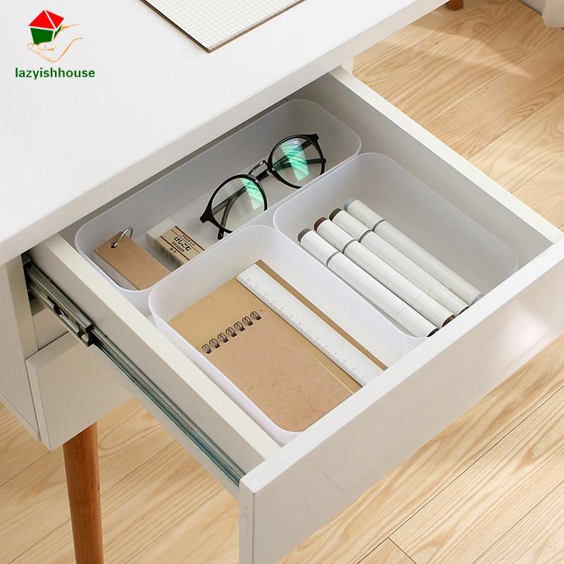DIY multi-compartment Natural Classifying cosmetic drawer storage box desktop debris storage box Makeup Organizer Cosmetics boxs