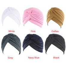 Women Elastic Stretchy Beanies Hat Bandanas Big Satin Bonnet Hijab Cap Hat For Musleim Womens Solid Color Muslim Turban Cap 1PCS(China)