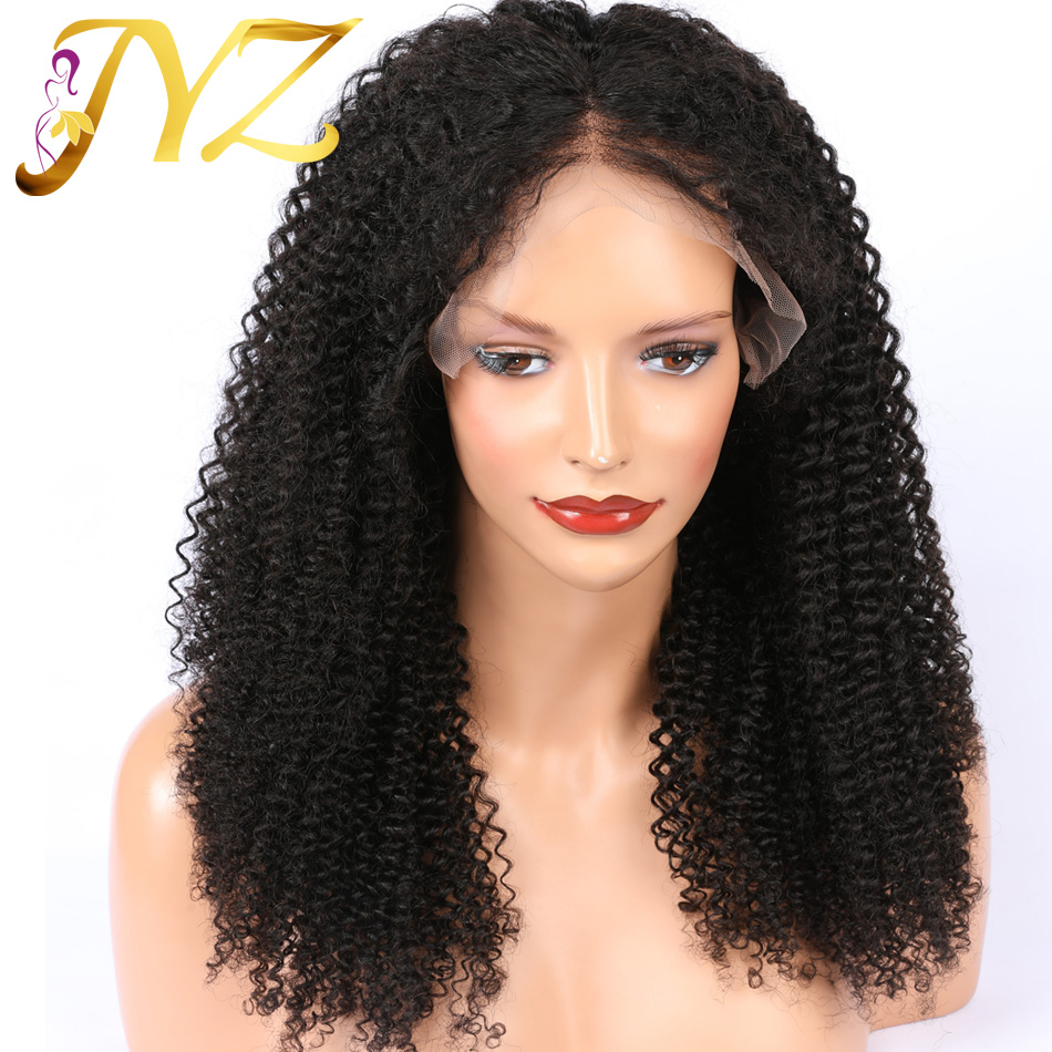 Kinky Curly Lace Front Human Hair Wigs With Baby Hair Pre Plucked Human Hair Wig Curly Wig For Black Women