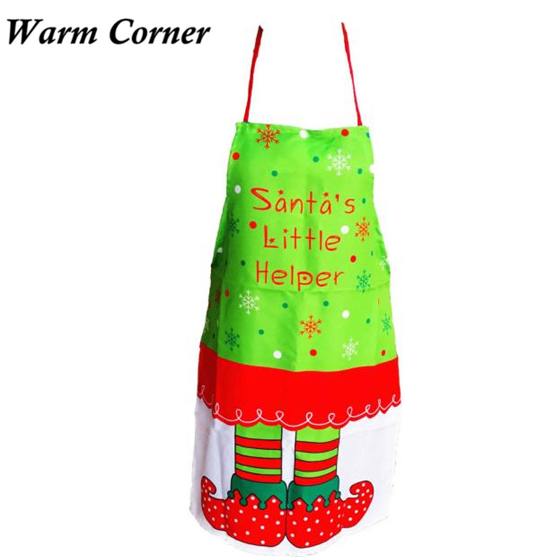 2017 New Arrivals Christmas Printing Elves Apron Whimsy Novelty Gift Kitchen Apron Letters Supply Wedding Free Sept 26