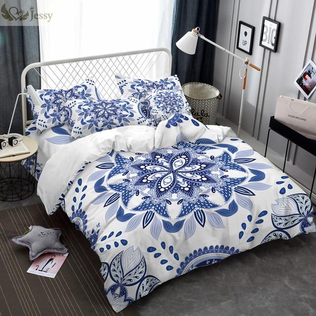 Роскошные в китайском этническом Стиль Постельное белье Набор пододеяльников для пуховых одеял комплект сине-белые фарфор постельное белье наволочки 45*45 см Чехлы для подушек
