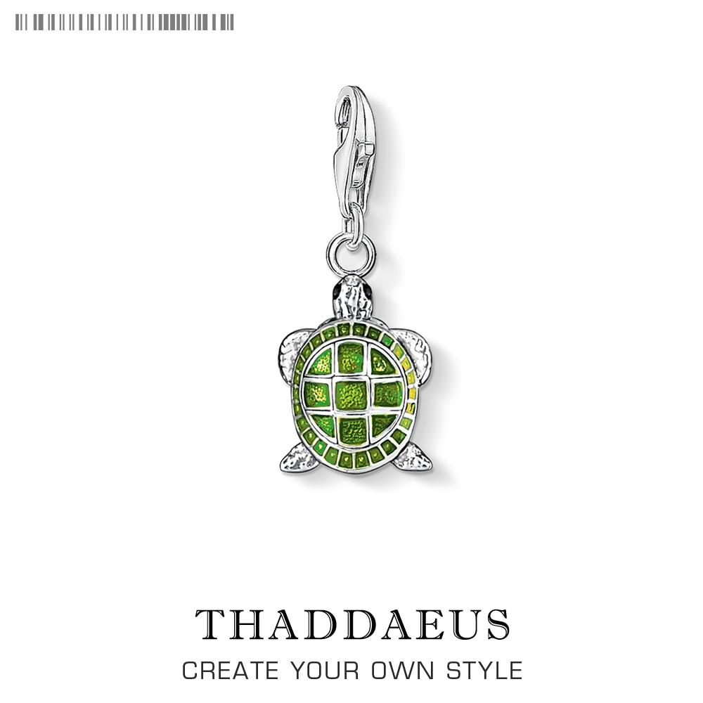 Pure 925 Sterling Silver Turtle's Adventure Tortoise Pendant Charms Fit Women Men Charm Bracelets Necklace DIY Fashion Jewelry