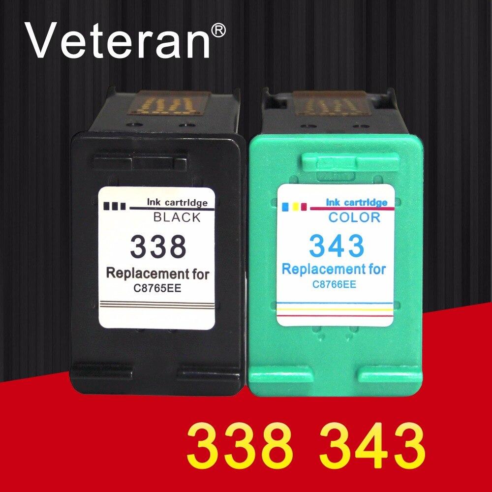 Ветеран 338 343 XL переработанный чернильный картридж совместимый с hp 338 hp 343 hp Deskjet 6540 5740 5745 6520 6540 460c 6620 принтер