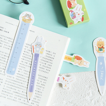 30pcs/box kawaii Creative Animal learning bookmark stationery bookmarks book holder message card school supplies papelaria