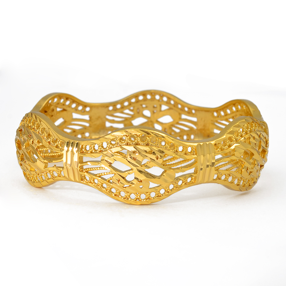 Image 5 - Anniyo 4 Pieces/Openable Dubai Wedding Bangles Ethiopian Bracelet & Bangle for Women African Jewelry Arab Middle East #208206-in Bangles from Jewelry & Accessories