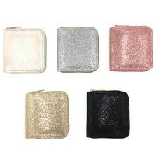 KANDRA New Women's Wallet Small Gold Glitter Short