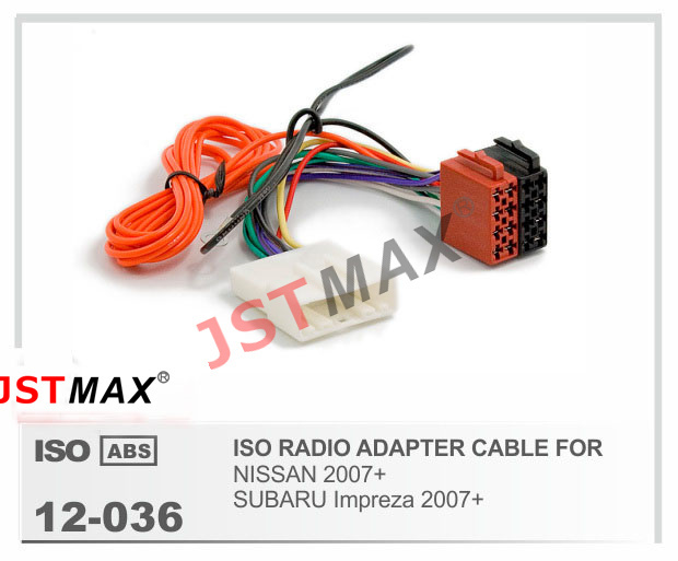 Jstmax Car Iso Radio Plug For Nissan 2007  For Subaru Impreza 2007  Stereo Wiring Harness Wire