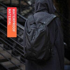 Image 2 - جديد وصول USB شحن محمول على ظهره 15.6 بوصة الرجال الحقائب المدرسية للمراهقين كلية حقيبة السفر الذكور Mochilas M808