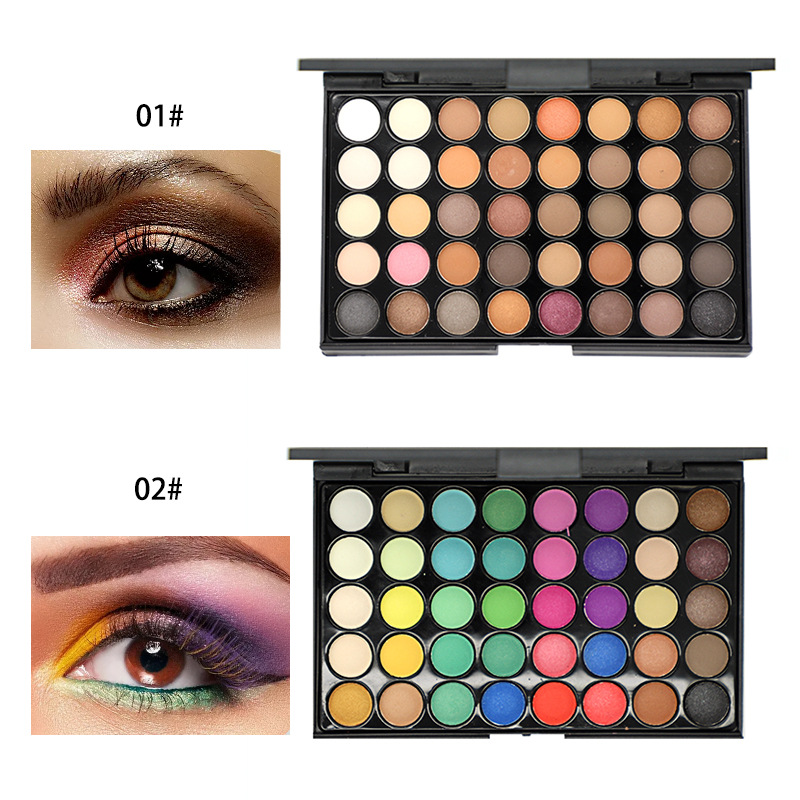 Smoky Matte Eyeshadow Pallete Mixed Color Baking Powder Ky