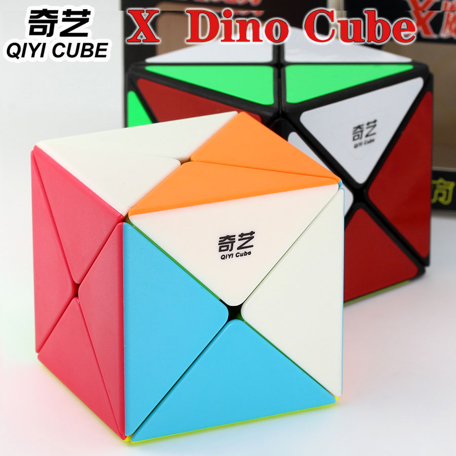 Magic Cube Puzzle QiYi 3x3x3 X Dino Cube Special Shape Sprofessional Twist Wisdom Speed Cube Educational Toys Game Gift