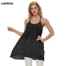 LASPERAL 5XL Women Beach Dress Chiffon Fluorescence Summer Dress Sexy Strap  Loose Vestido Female 2018 Summer 7ce7c7fb6b30