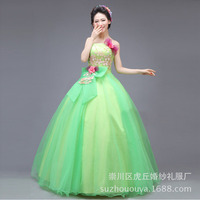 Charming Bowknot Beads Corset Bodice Beading Rhinestone Floor Length Strapless Long Sweet 15 Ball Gown Dress Quinceanera Dresses