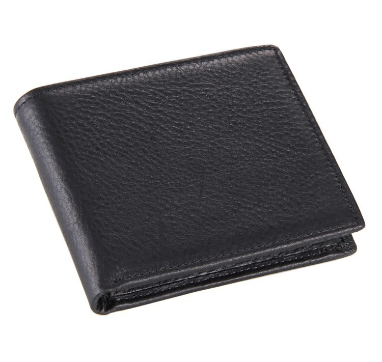 8062A Classical Vintage Style Wallet For Businees Man 100% Real Leather Money Clip