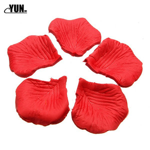 Image 3 - A. 1000Pcs Wholesale Wedding Rose Petals Decorations Flowers Polyester Wedding Rose New Fashion 6D