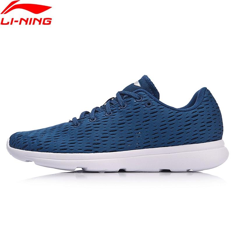 Li-ning hommes E-RUN chaussures de course poids léger respirant doublure coussin confort Fitness Sport chaussures baskets ARBN063 XYP673