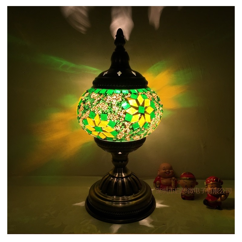 hand inlaid glass mosaic bedroom living room decorative table lamps. Black Bedroom Furniture Sets. Home Design Ideas