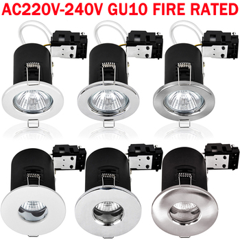 220V GU10 Iron/Die-Cast IP20 /IP65 Waterproof Fireproof Downlight Recessed  Locked / Tiltable Without Bulb D25