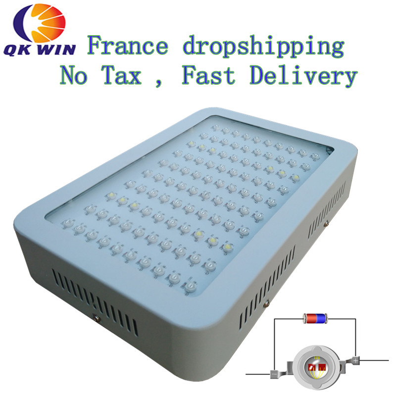 France Shipping Qkwin 1000W LED Grow Light 100x10W with double chip 10W Full Spectrum LED Grow Light for indoor plants best led grow light 600w 1000w full spectrum for indoor aquario hydroponic plants veg and bloom led grow light high yield