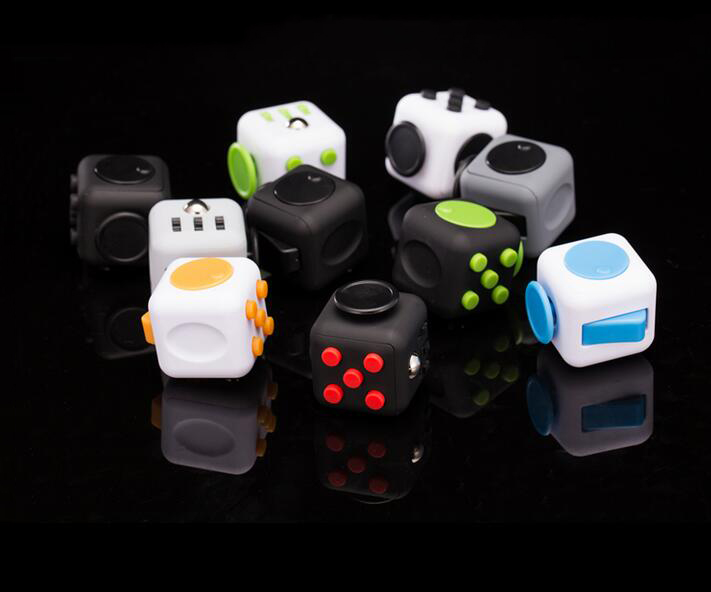 Squeeze Fun Stress Reliever Gifts Fidget Cube Relieves Anxiety and Stress Juguet For Adults Children Fidgetcube Desk Spin Toys 9 types squeeze stress reliever fidget cube pc vinyl fidgetcube game toy kickstarter fidget toys for girl boys christmas gifts
