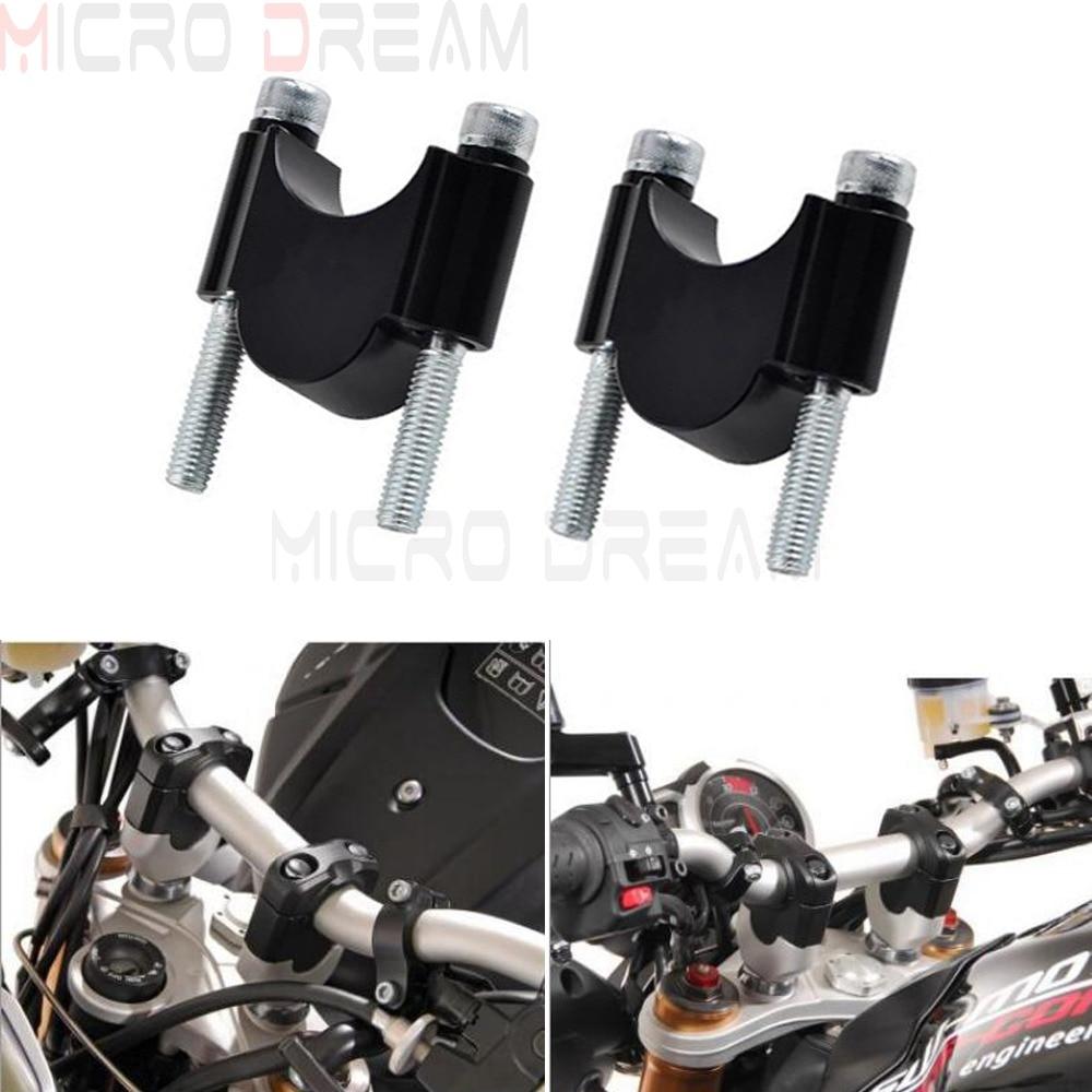 Black Universal Handlebar Riser Motocross Motorcycle 7/8