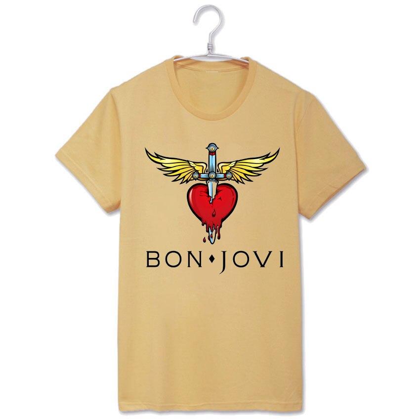 4cc7773e5 Rock bon jovi klasyczne skrzydło logo mężczyzna kobiet rozmiar wysokiej  jakości modal bawełna t shirt