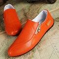 2016 Nuevos Planos de Los Hombres Zapatos Casuales Zapatos de Cuero de LA PU Hombres negro Botas de Goma Para Los Hombres 3 Colores del Tamaño Grande 39-45