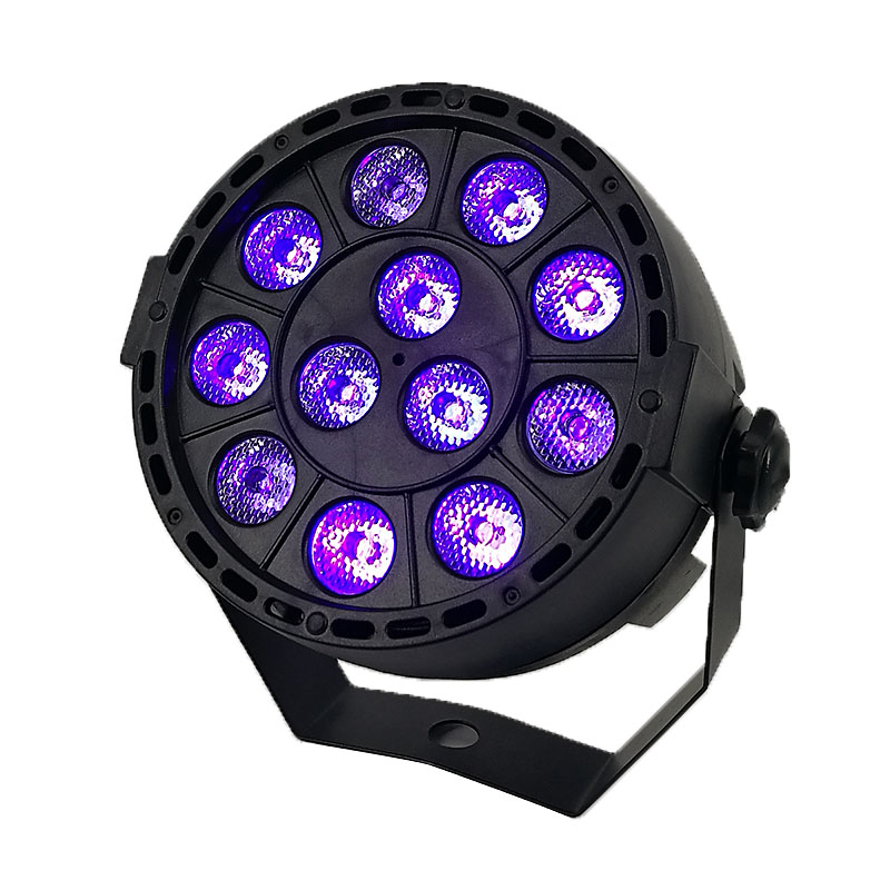 LED effet de lumière de scène 12x3W couleur ultraviolette plat Par DMX512 DJ Disco lampe KTV Bar partie rétro-éclairage faisceau projecteur projecteur
