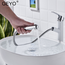 цена на GEYO Solid Brass Water Tap Bathroom Basin Faucet Bathroom Tap Cold And Hot Bathroom Sink Faucet Torneira Banheiro