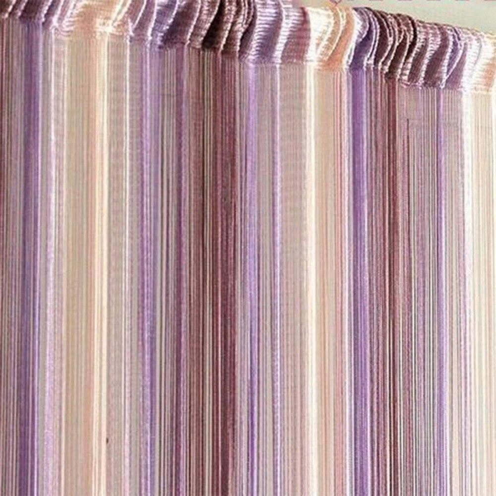 Window Curtain Line String Tassel Door Room Divider Scarf Valance Door Window Screens Curtain 1Mx2M