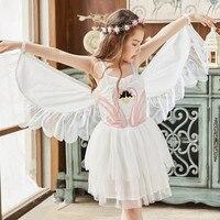 Summer Girls Party Dress baby Ball Gown Clothing Mesh Angel Wings Wedding Princess Girl Dresses girls lovely Little fairy dress