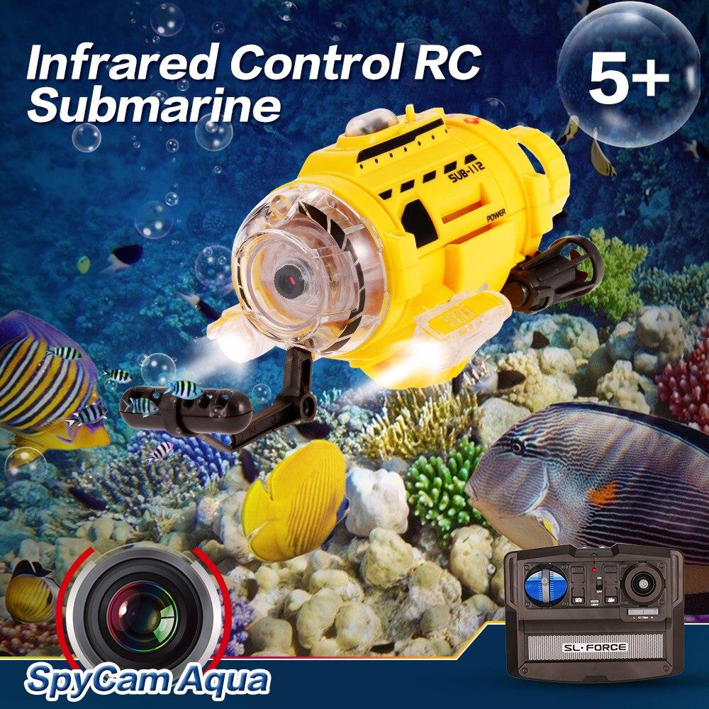 Infrarot Fernbedienung Speed Boot Spycam Aqua Rc Submarine Mit 0.3mp Kamera & Led Licht Mini Submarine Rc Spielzeug Geschenke Ein Unbestimmt Neues Erscheinungsbild GewäHrleisten Sammeln & Seltenes